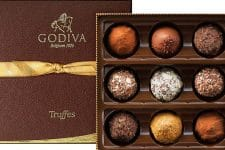 3 paniers gourmands Chocolats Deluxe Godiva & Champagne offerts