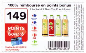Carrefour : Boisson Tao Thé Pure Infusion GRATUITE !