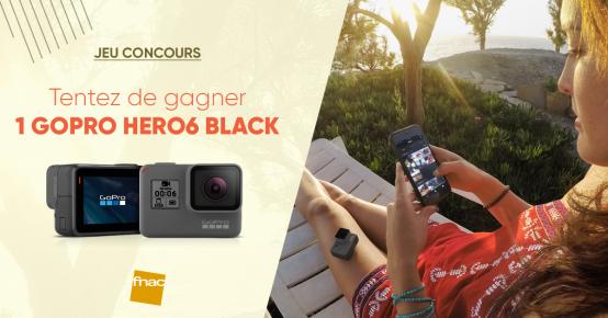 En jeu : 1 caméra GoPro Hero6 Black de 569€