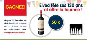 50 bouteilles de vin italien en jeu !
