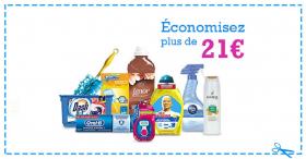 Economisez 21€ sur les produits P&G !