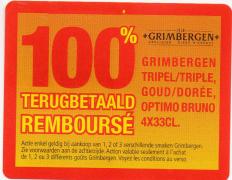 Bière Grimbergen 100% remboursée