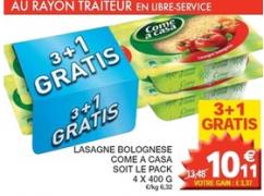Un paquet de lasagnes gratuit chez Champion
