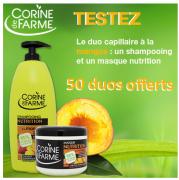 Beauté test : testez un duo de produits capillaires de Corine de Farme