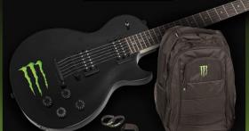 En jeu : une guitare Eagletone «Monster Energy» et+