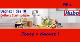 Remportez 10 paquets Start-to-bake de 198€