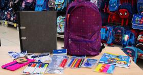 En jeu : sacs à dos + fournitures scolaires