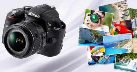 GAGNEZ un appareil photo reflex de «Nikon»