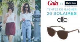 26 paires de lunettes de soleil Elite offertes !