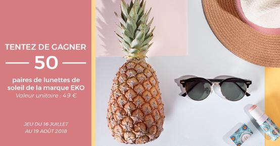 50 paires de lunettes de soleil Eko offertes !
