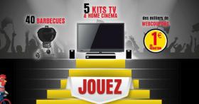 A gagner : 5 TV Philips + 5 home cinéma + 40 BBQ Weber