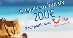 A gagner : Un bon d'achat TUI de 200€