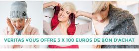 3 bons d'achats de 100 € chez Veritas à gagner !