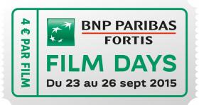 Gagnez 2 tickets de cinéma pour Les BNP Paribas Fortis FILM DAYS