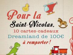 10 cartes cadeau DreamLand à gagner !