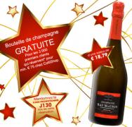 Une bouteille de Champagne GRATUITE!