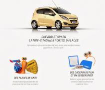 Gagnez une Chevrolet Spark et plein d'autres cadeaux !