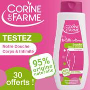 Beauté Test : testez GRATUITEMENT la douche corps et Intimité de Corine de Farme