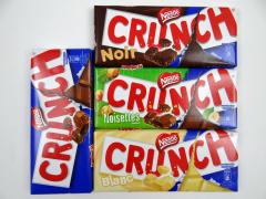 4 Tablettes de chocolat CRUNCH à gagner