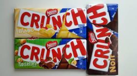 Gagnez 3 tablettes de chocolat Crunch