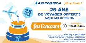 25 ans de voyages offerts avec Air Corsica !