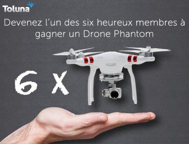 6 Drones Phantom à gagner !