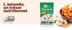 Echantillons gratuits de lait d'amande en poudre bio EcoMil