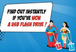 140 Clés USB SuperMan ou WonderWoman à gagner !