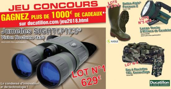 A remporter: 1'000€ d'équipements pour la chasse (Jumelles SightOptics, Bottes Aigle…)