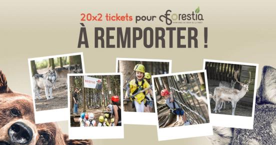En jeu: 40 tickets d'entrée pour le parc Forestia