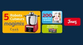A gagner : 5 robots Magimix + 200 livres de recettes