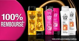 Shampooings et après-shampooings Schwarzkopf Gliss Kur GRATUITS