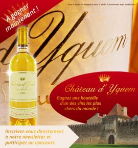1 bouteille de Château d'Yquem 1998 à gagner !