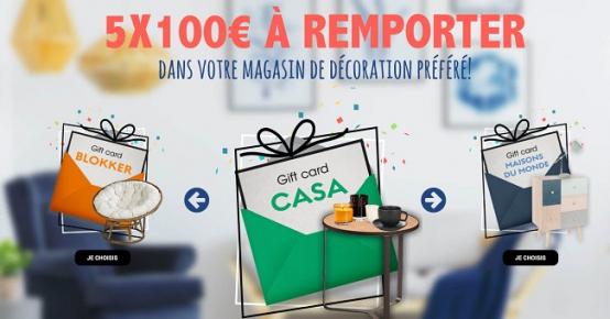 Gagnez 500€ en bons d'achat dans votre magasin déco préféré !