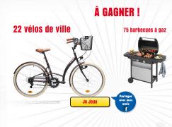 22 vélos «Btwin élops 320» et 75 barbecues «Campingaz» A GAGNER !