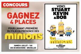 4 places pour l'avant-première du film «Les Minions» à gagner!