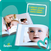 Livre photo luxe offert par Pampers et Photobox !