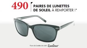 Gagnez une paire de lunettes de soleil Excellence !