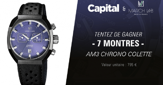 7 montres March LA.B de 795€ offertes