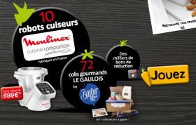 10 Robots cuiseurs Moulinex et des colis gourmands à gagner !
