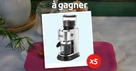 5 moulins à café De'Longhi à gagner
