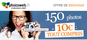 150 photos à 10 € chez Photoweb