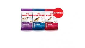 4 Kg de nourriture pour chien gratuite Royal Canin