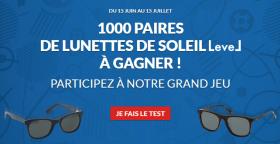 1000 paires de lunettes de soleil «Level» offertes !
