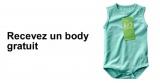 Body en coton bio gratuit sur simple demande